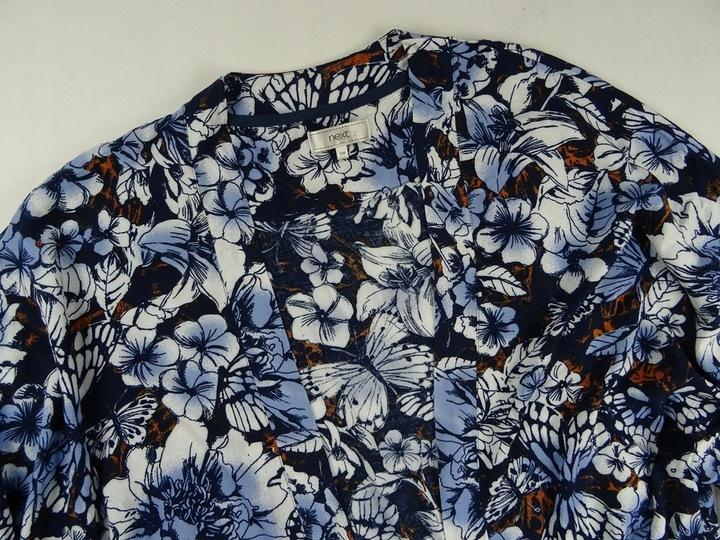 90_ NEXT bluzka NARZUTKA frędzle FIOŁKI 36/38 S/M 9203916860 Odzież Damska Bluzki ZZ VKCKZZ-9