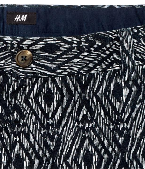 H&M SPODENKI SZORTY MĘSKIE WE WZOREK RETRO 48 9256441643 Odzież Męska Spodenki UV EGLOUV-1