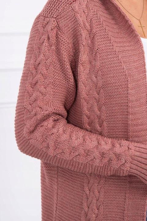 JESIEŃ SWETER KARDIGAN W WARKOCZE RÓŻNE KOLORY 8653105193 Odzież Damska Swetry LA JIGWLA-1