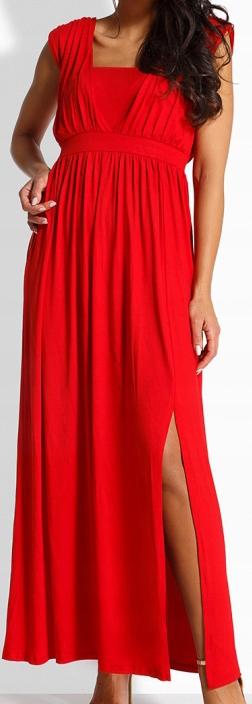 Z_1 Sukienka Maxi 115EM Czerwona - L/XL 9481441632 Odzież Damska Sukienki wieczorowe DX SVSIDX-1