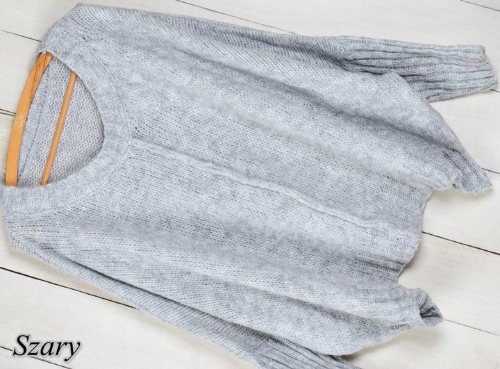 146 MIĘCIUTKI CIEPŁY SWETER OVERSIZE kolory 8662109640 Odzież Damska Swetry IP SRCXIP-2