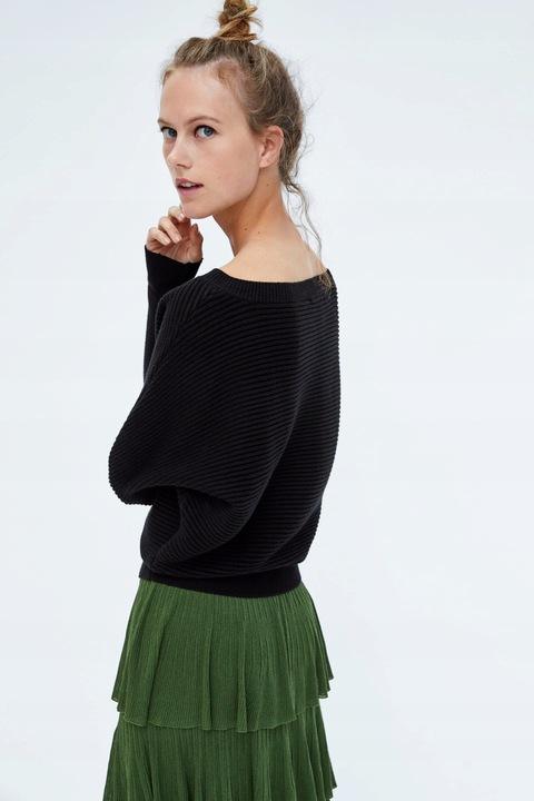 ZARA - czarny sweter ze strukturalnej dzianiny -S 8927953947 Odzież Damska Swetry JJ JAQQJJ-8