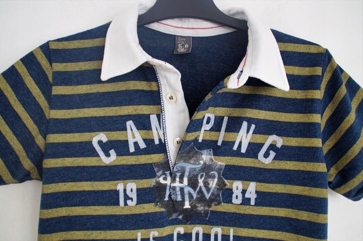 ZARA_KOSZULA POLO t-shirt_szkoła_rozm 128_6/7 LAT 8172184656 Dziecięce Odzież KW TXCCKW-3