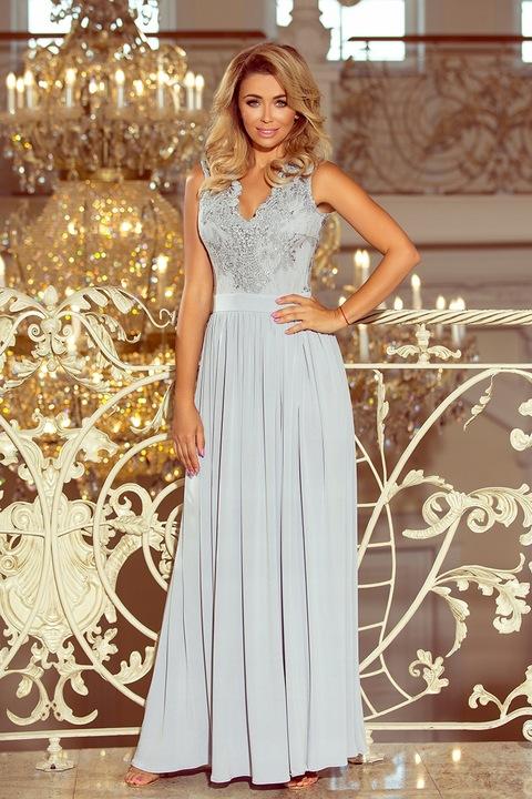 NUM 215-1 Lea piekna suknia maxi WESELE __38 M 9405347630 Odzież Damska Sukienki wieczorowe PL BJKLPL-3