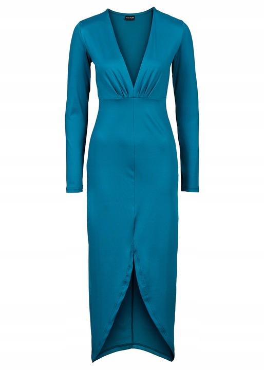 U381 PIĘKNA DŁUGA SUKNIA WIECZOROWA sukienka 36 6301862278 Odzież Damska Sukienki wieczorowe ET FNJIET-5