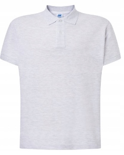 Koszulka polo męska JHK jasny szary r S 9395628612 Odzież Męska Koszulki polo CD NHOGCD-4