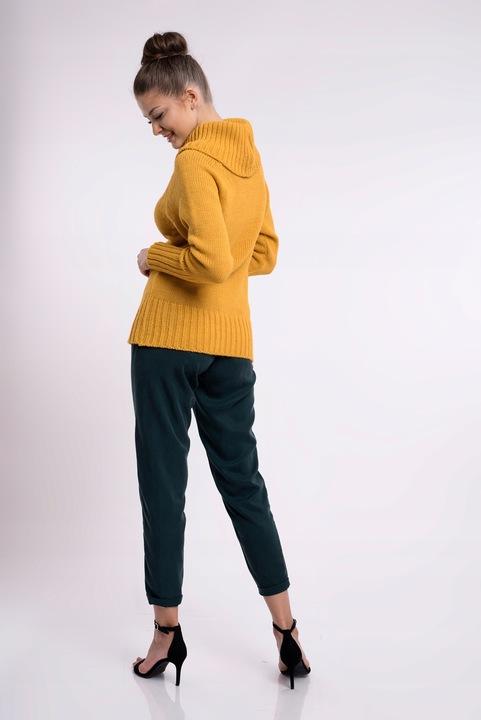 SETIN_VERO NEW MIĘSISTY DŁUGI SWETER Z GOLFEM S/M 8354559526 Odzież Damska Swetry MI YNBLMI-2