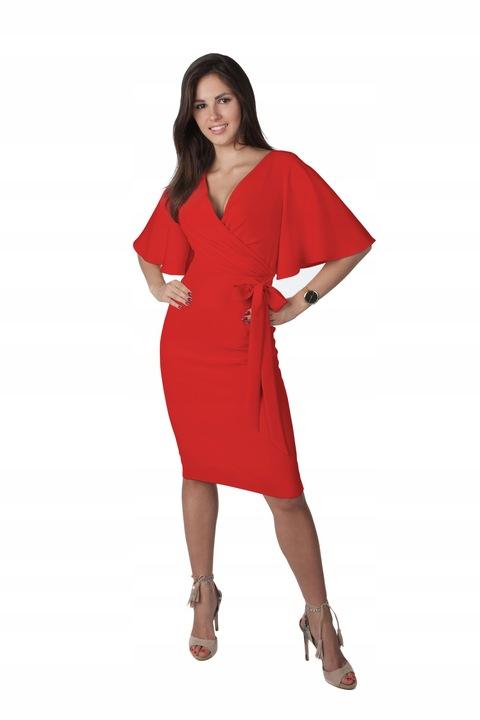 Sukienka Z Kokardą Unikat Na Wesele R/44 8867970769 Odzież Damska Sukienki wieczorowe LX FOLDLX-1