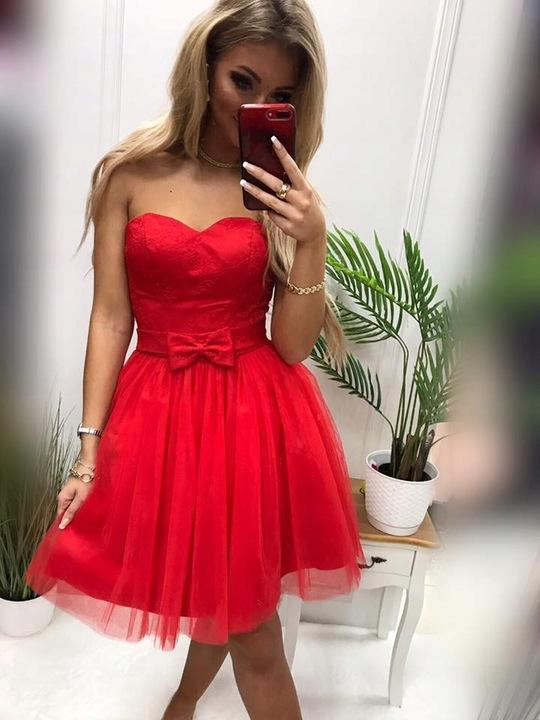 PinUp BEŻOWA TIULOWA GORSETOWA SUKIENKA XS 9269976309 Odzież Damska Sukienki wieczorowe VQ TRSRVQ-4