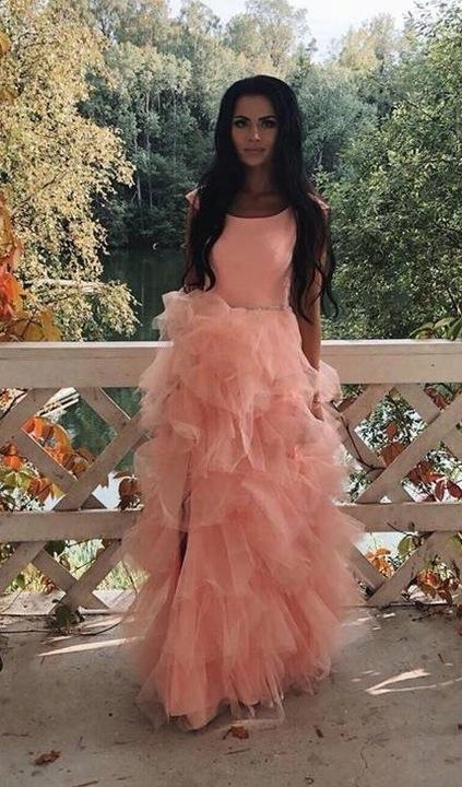 Sandy MORELOWA TIULOWA ślub wesele druhny L 9448387875 Odzież Damska Sukienki wieczorowe XZ ZBCVXZ-6