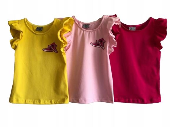 Bluzka rÓżowa z naszywką w trampki Lily Grey 134 9347182250 Dziecięce Odzież CR PJVHCR-9