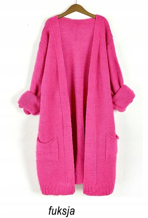 Asymetryczny otulający KARDIGAN narzutka sweter 8415889355 Odzież Damska Swetry BC QFSJBC-4