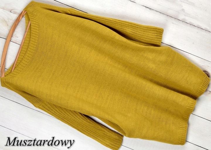 K52 CIEPŁY DŁUŻSZY SWETER TUNIKA OVERSIZE klasyk ! 8524013814 Odzież Damska Swetry KI QTIUKI-3