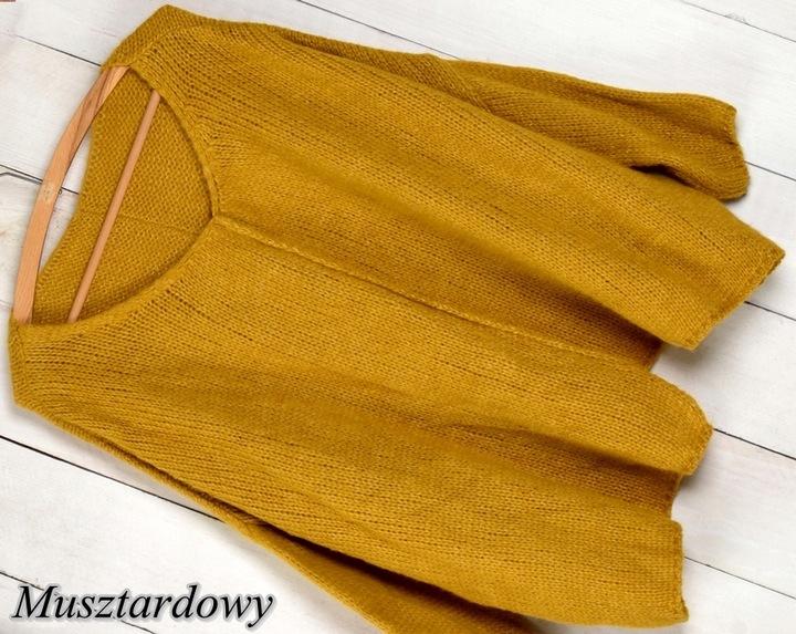 997 MIĘCIUTKI ASYMETRYCZNY SWETER OVERSIZE kolory 8434136805 Odzież Damska Swetry LJ FAJOLJ-5