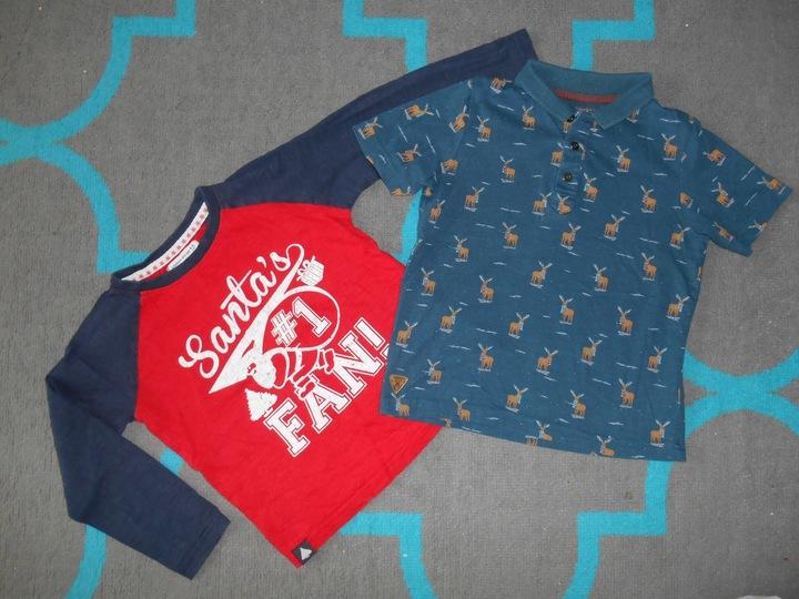 Koszulki T-Shirt bluzki świąteczne 104-110 5 lat 9906829669 Dziecięce Odzież AU WIWCAU-7