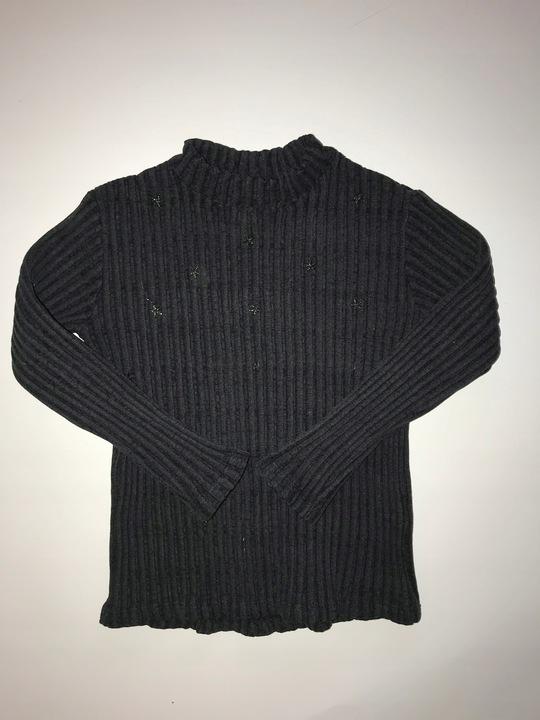 ZARA bluzka 5 lat 110 cm prązki gwiazki metalizowa 9929364037 Dziecięce Odzież SZ TULVSZ-1