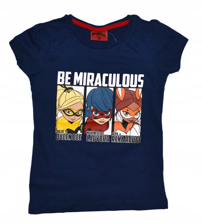 Bluzka Biedronka i Czarny KOT 146 t-shirt Miraculu 9085478374 Dziecięce Odzież CV USBRCV-4