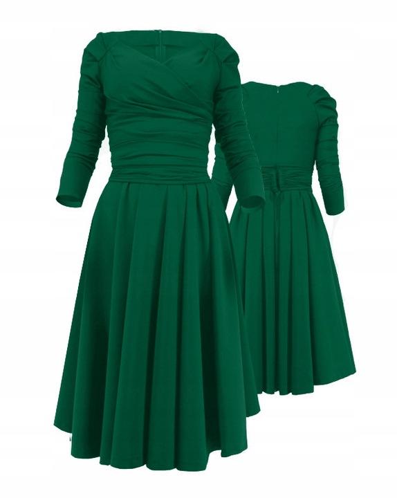 Camill 165 zielona rozkloszowna sukienka 46 8749951009 Odzież Damska Sukienki wieczorowe IE JVHVIE-5
