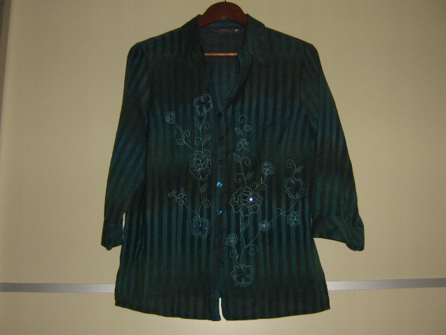 Koszula Kremowa Mgiełka H&M 34 Paski Elegancka 8632061388
