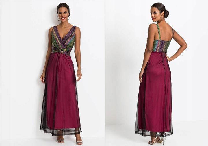 Elegancka WYJŚCIOWA sukienka BODYFLIRT!! R - 36/38 9811975029 Odzież Damska Sukienki wieczorowe QT WFRDQT-2