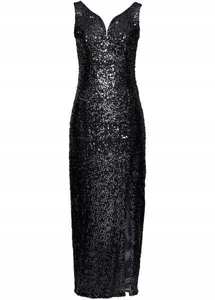 B.P.C suknia wieczorowa wyszywana cekinami 36 9830731064 Odzież Damska Sukienki wieczorowe AT AKQYAT-3