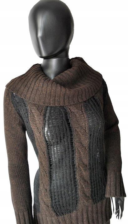 ZARA ciekawy sweter TUNIKA M/L 38/40 ażur WEŁNA 9824465040 Odzież Damska Swetry FY YHPRFY-2