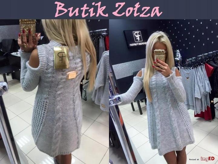 SUKIENKA TUNIKA SWETEREK PAPARAZZI FASHION HIT 9695382187 Odzież Damska Swetry DY HBAYDY-7
