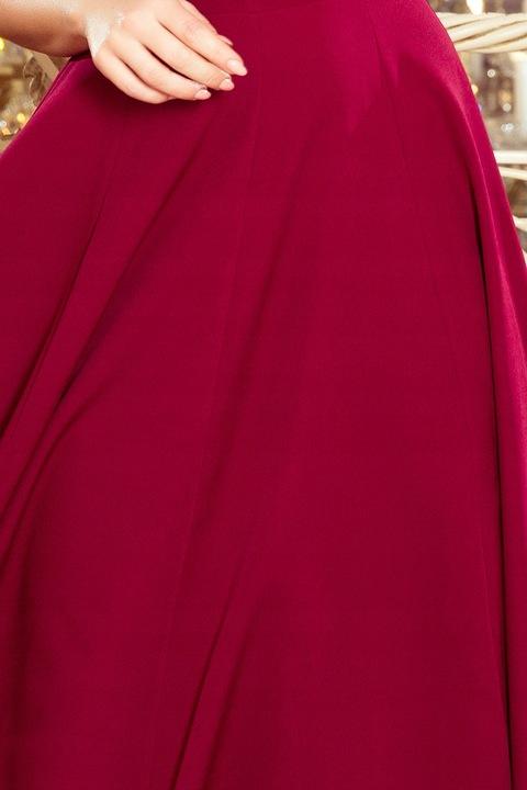 SUKIENKA MAXI KLASYCZNA DEKOLT PLECY V TALIA S 9535190461 Odzież Damska Sukienki wieczorowe ZD KHCEZD-2