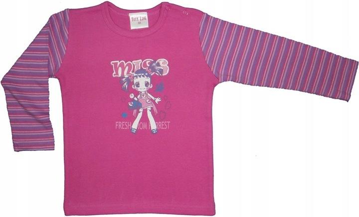 Bluzka TOTY-LINE TBW14431 rÓżowa ( 62 -- 86 ) 9735212938 Dziecięce Odzież MR DDANMR-9