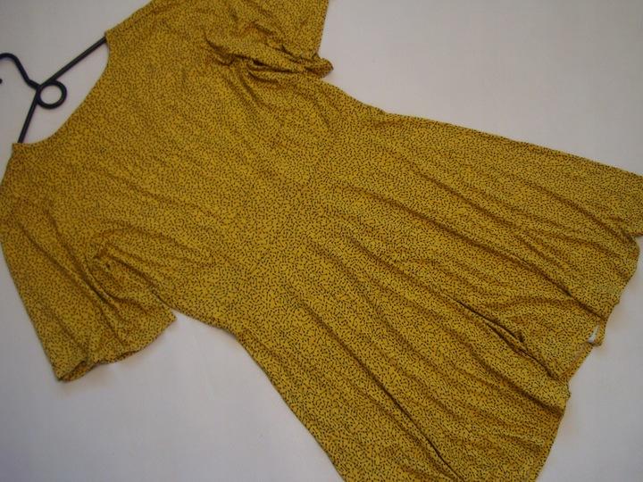 MUSZTARDOWA sukienka dzianinowa GEORGE r.46 9073448827 Odzież Damska Sukienki DI LQHPDI-3