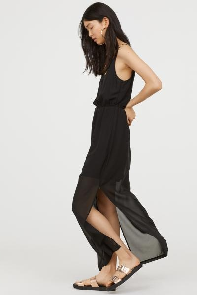 H&M czarna sukienka długa maxi mgiełka NOWA 36 9631304026 Odzież Damska Sukienki FE KRDMFE-9