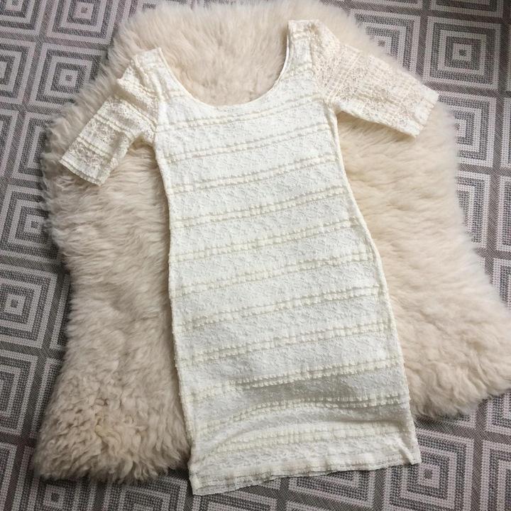 H&M sukienka kremowa koronkowa ołÓwkowa M 38 S 8513021870 Odzież Damska Sukienki AT LTLQAT-3