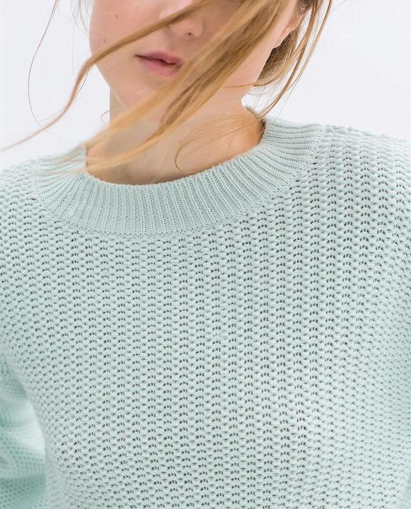 ZARA SWETER PLECIONY MIĘTOWY BLOGERSKI NOWY S 8787517070 Odzież Damska Swetry RR UGBKRR-2
