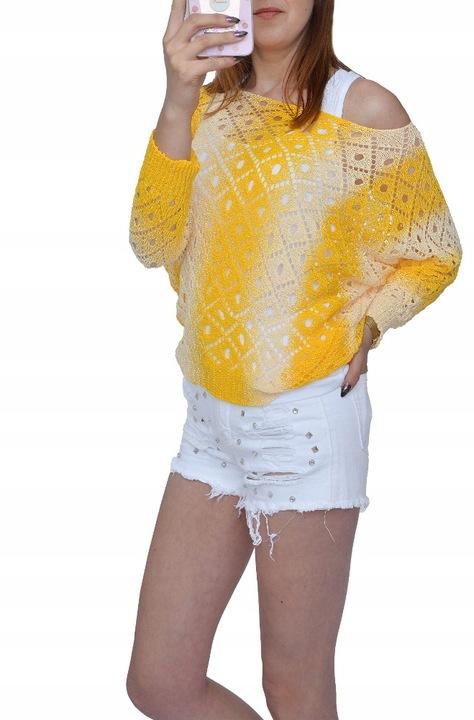 LUŹNY SWETER PIĘKNY KOBIECY KRÓJ NIETOPERZ KOLORY 7663078442 Odzież Damska Swetry IE EOLAIE-7