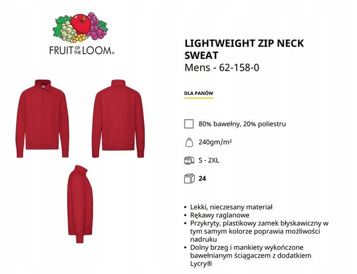 FRUIT OF THE LOOM LEKKA BLUZA SET IN -XXL- 7885856669 Odzież Męska Bluzy KJ EXEKKJ-9