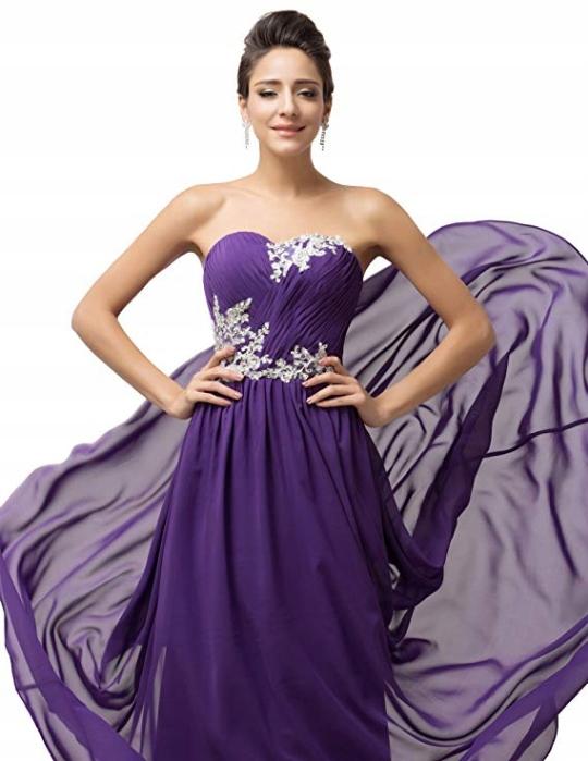 Suknia wieczorowa Grace Karin 12193406 - 32 8332324416 Odzież Damska Sukienki wieczorowe XQ UTNEXQ-6
