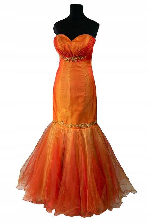 Suknia wieczorowa okolicznościowa r 36 powystawowa 9806234030 Odzież Damska Sukienki wieczorowe XE TGFGXE-4