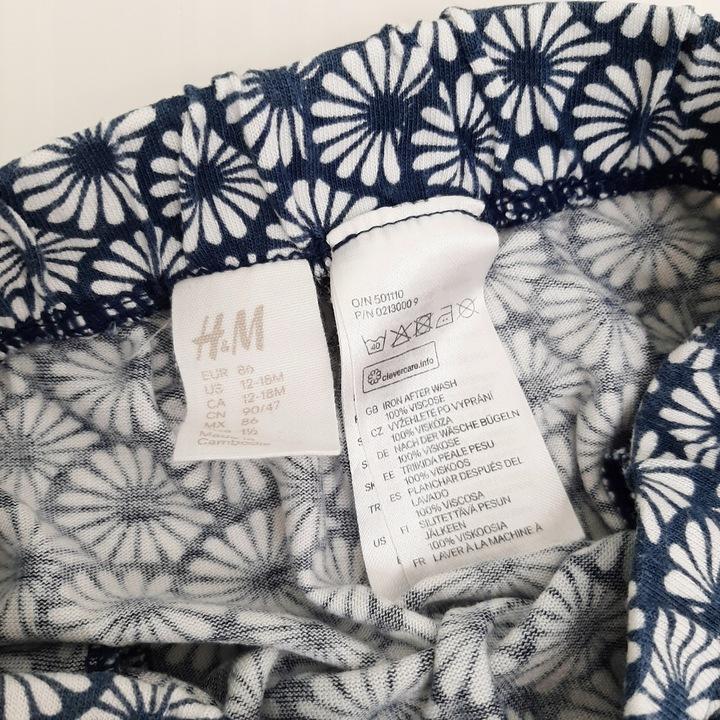 H&M haremki baggy jersey kwiatki 86 12-18 9930419641 Dziecięce Odzież AQ TZOCAQ-9