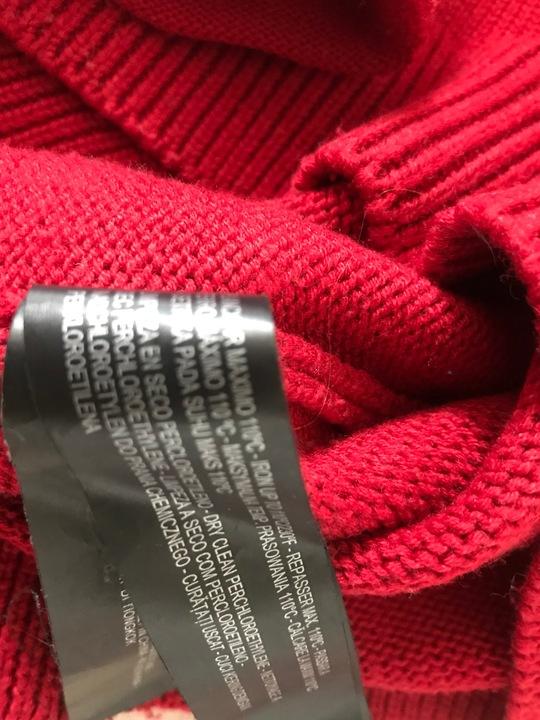 Czerwony sweter ZARA KNIT zip r.38 9238915891 Odzież Damska Swetry BW YQTKBW-2