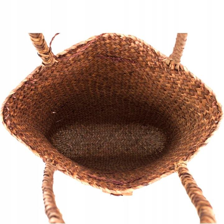 Bluza Ręcznie tkana duża rattanowa torba ze słomy 9539566852 Odzież Damska Topy SP OPHBSP-3