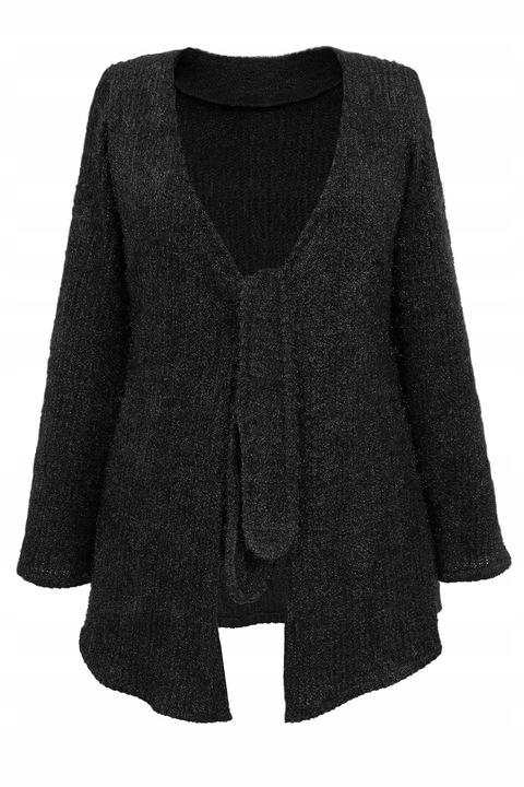 oryginalny wiązany SWETER czarny 52 9760252479 Odzież Damska Swetry AT QENBAT-8