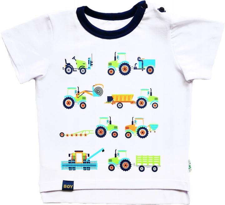 Bluzka z pojazdami traktor kombajn bawełna AIPI 86 9754930416 Dziecięce Odzież QY XLPJQY-1