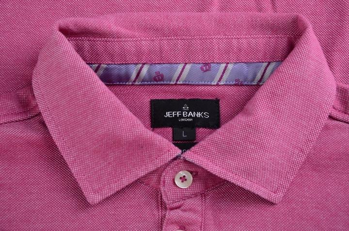 JEFF BANKS rÓżowa koszulka polo bawełna L 9315004843 Odzież Męska Koszulki polo SH KJHLSH-6