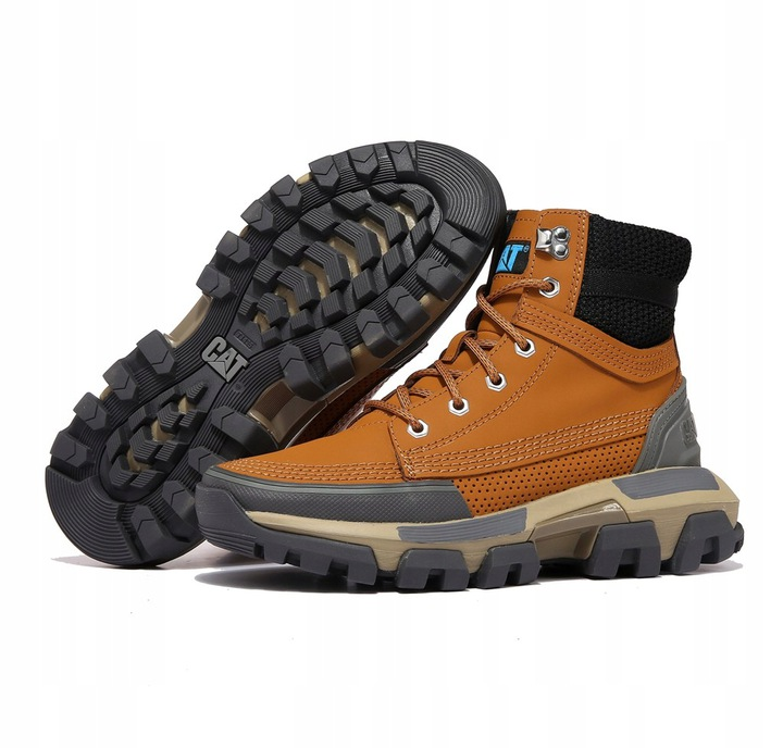 Caterpillar Buty CAT Workwear High Boots Brown 9814466616 Buty Męskie Sportowe NE AHJFNE-6