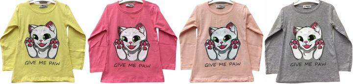 BLUZECZKA BLUZKA KOSZULKA dziewczynka kotek 128 cm 9876578839 Dziecięce Odzież SQ DSNKSQ-8