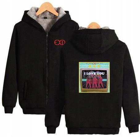 Warm blouse with EXID Hood 2019 L 40 9658270707 Odzież Damska Topy RI OTWURI-8