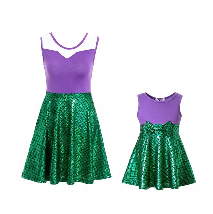 Arielka damska księżniczka kostium Sukienka damska 9327323147 Odzież Damska Topy PY RHPDPY-9