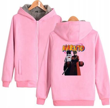 Warm blouse with ANIME Naruto S 36 Hood 9658447794 Odzież Damska Topy DI YPJBDI-6
