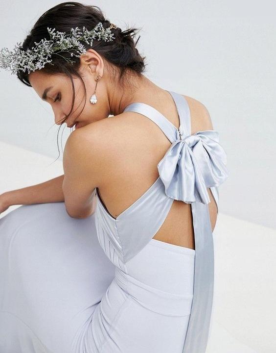 TFNC Błękitna długa sukienka plisowana (44) 9830144675 Odzież Damska Sukienki wieczorowe JH ACFKJH-8