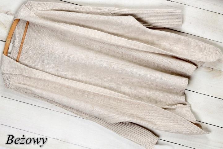 K45 CIEPŁY KARDIGAN NARZUTKA SWETER KAPTUR KOLORY 9518931680 Odzież Damska Swetry ZX DTNJZX-2